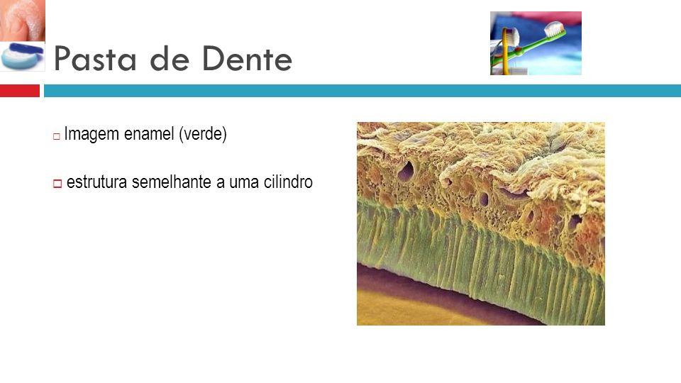 Pasta de Dente estrutura semelhante a uma cilindro