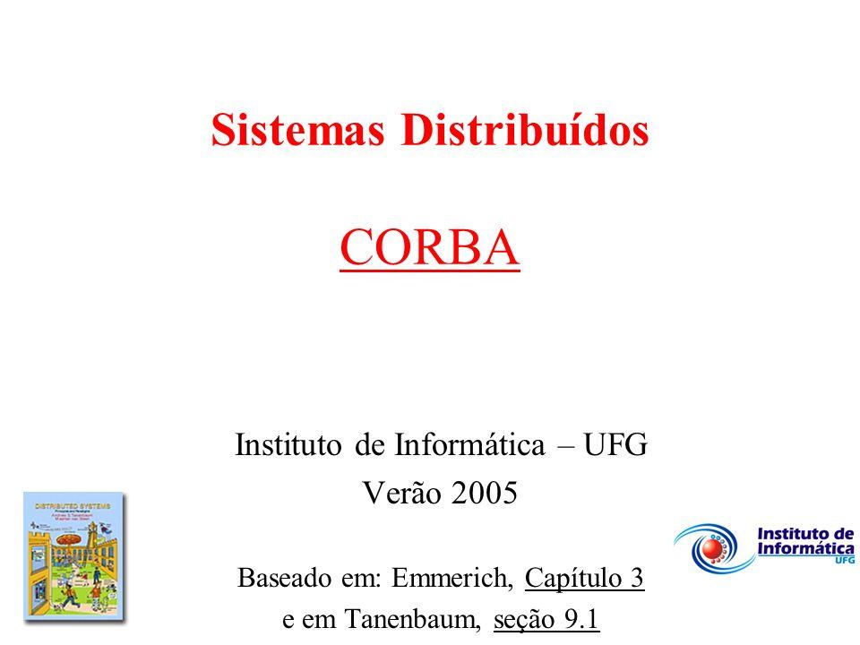 Sistemas Distribuídos CORBA