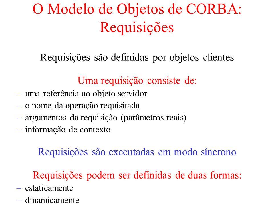 O Modelo de Objetos de CORBA: Requisições