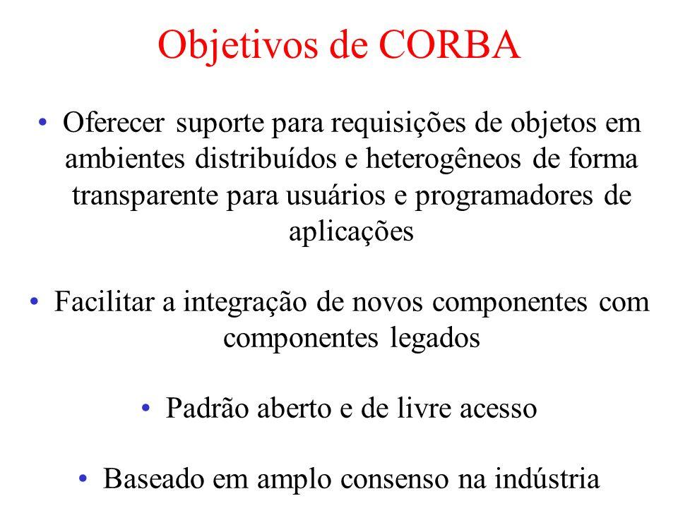 Objetivos de CORBA