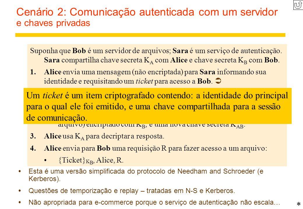 Cenário 2: Comunicação autenticada com um servidor e chaves privadas