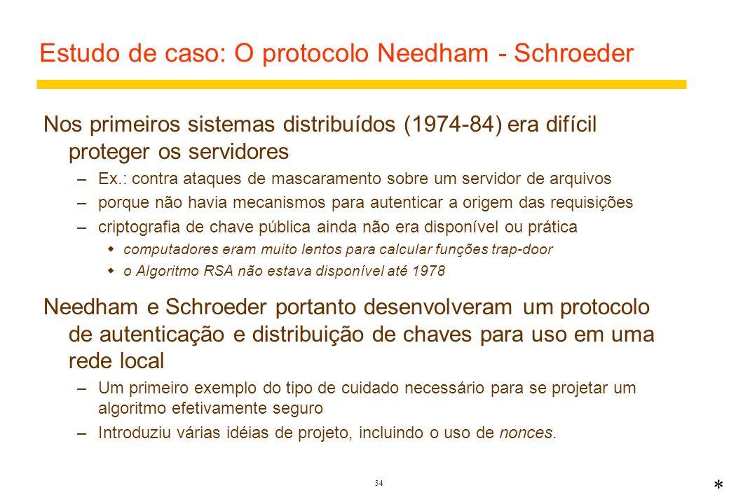 Estudo de caso: O protocolo Needham - Schroeder
