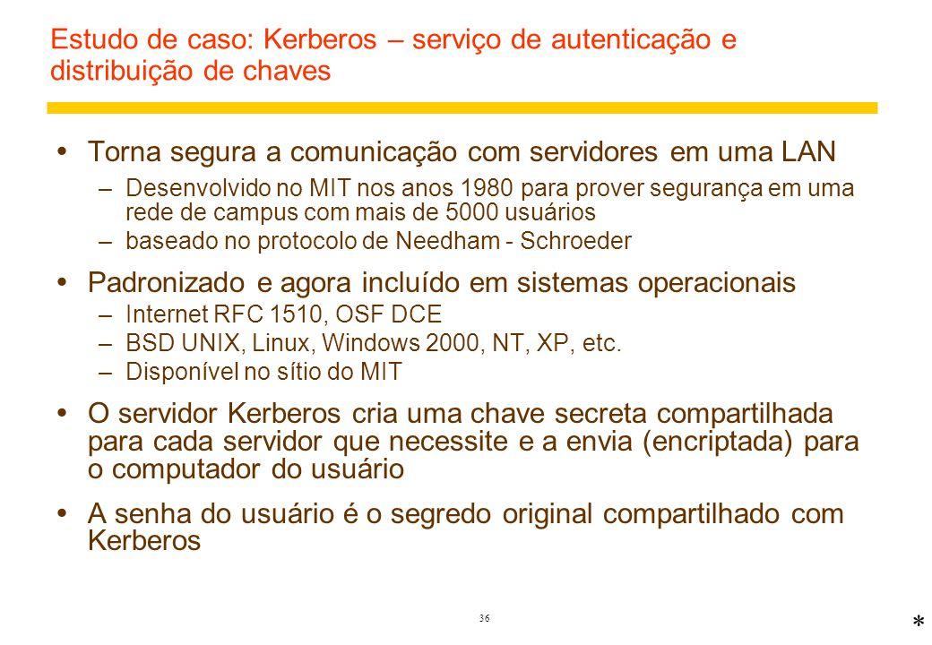 Torna segura a comunicação com servidores em uma LAN