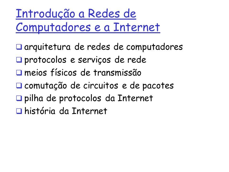 Introdução a Redes de Computadores e a Internet