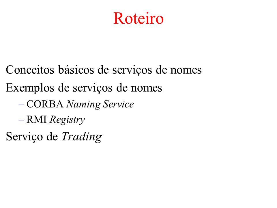 Roteiro Conceitos básicos de serviços de nomes