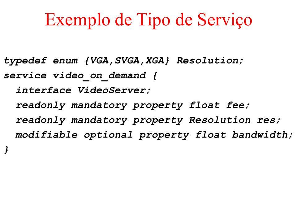 Exemplo de Tipo de Serviço