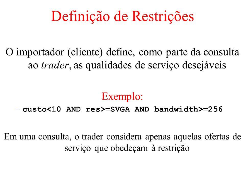 Definição de Restrições