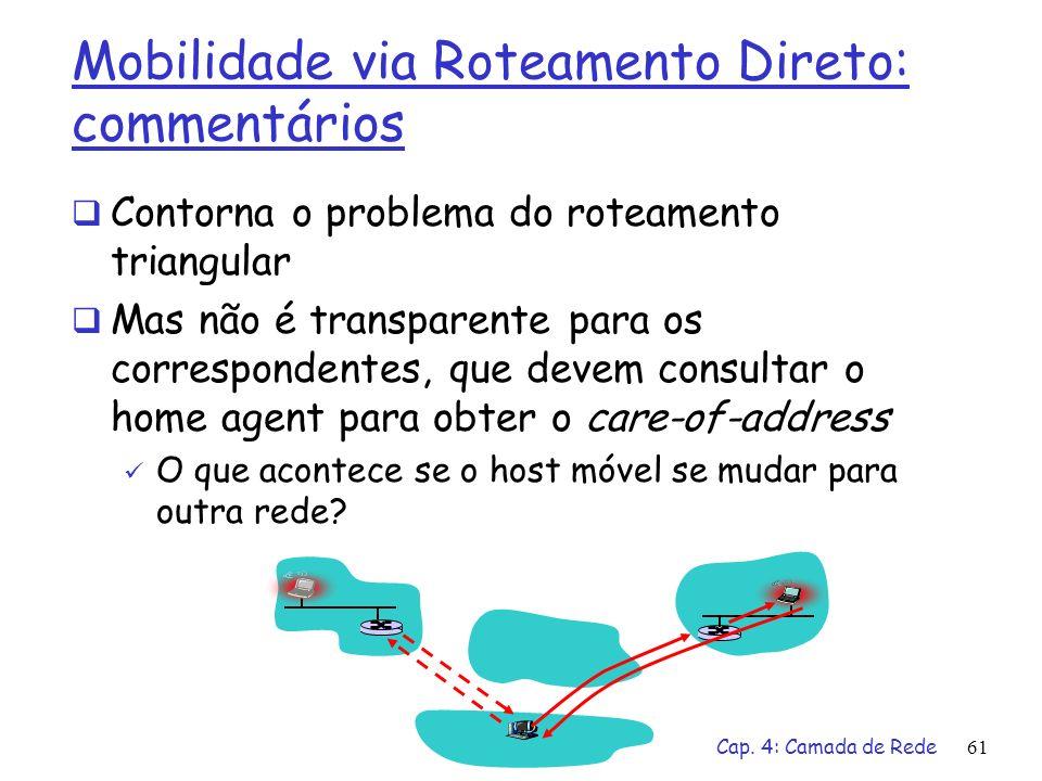 Mobilidade via Roteamento Direto: commentários