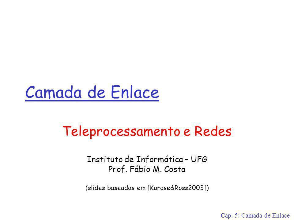Camada de Enlace Teleprocessamento e Redes