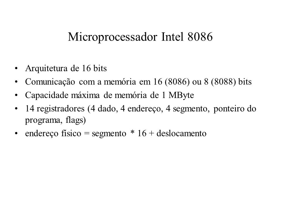 Microprocessador Intel 8086