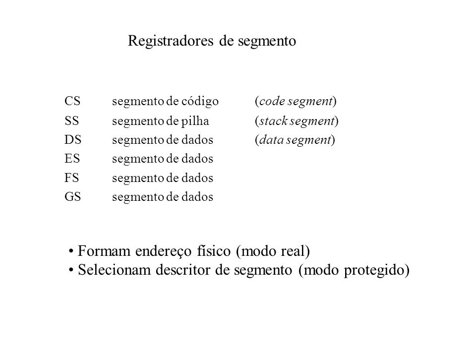 Registradores de segmento