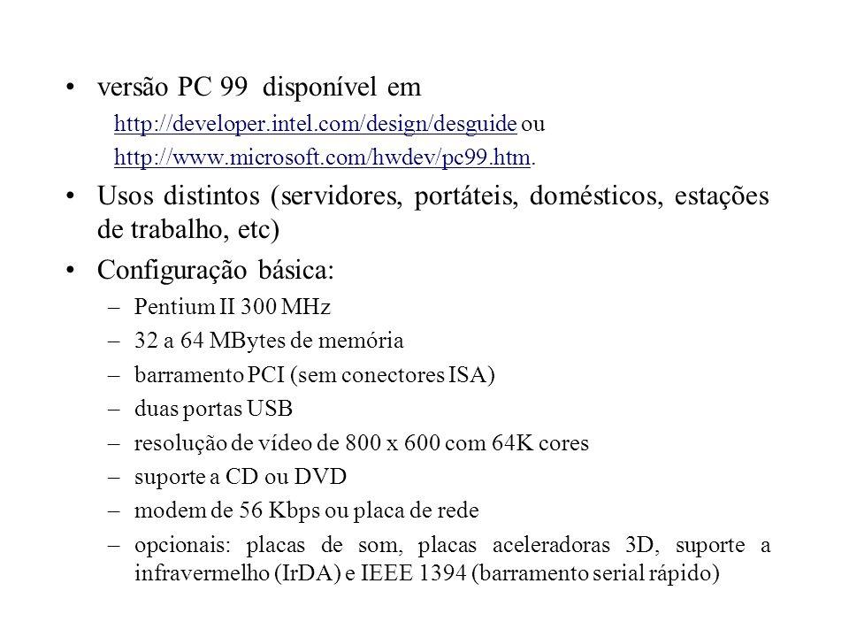 versão PC 99 disponível em