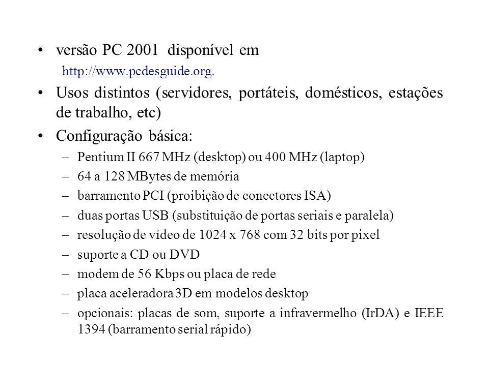 versão PC 2001 disponível em