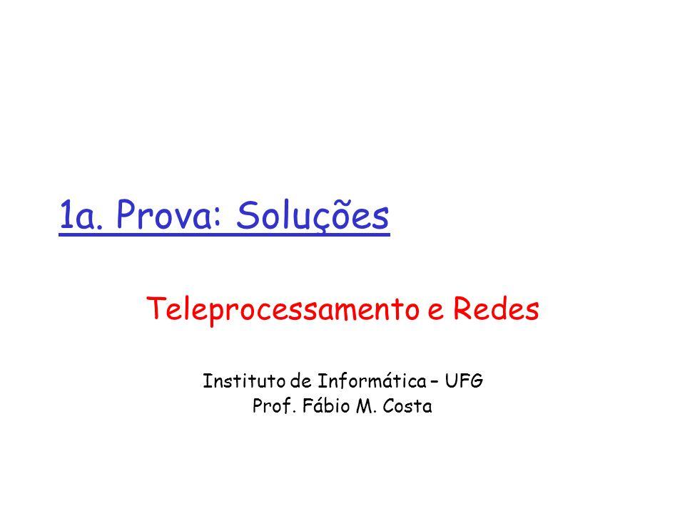 1a. Prova: Soluções Teleprocessamento e Redes