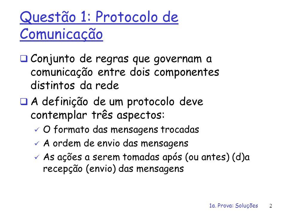 Questão 1: Protocolo de Comunicação