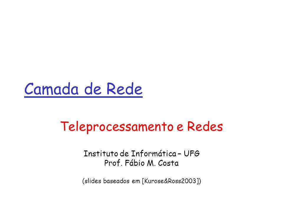 Camada de Rede Teleprocessamento e Redes