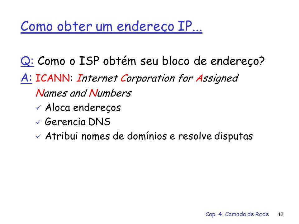 Como obter um endereço IP...