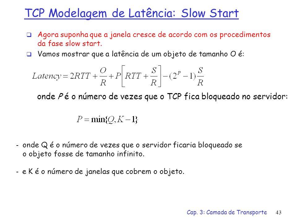 TCP Modelagem de Latência: Slow Start