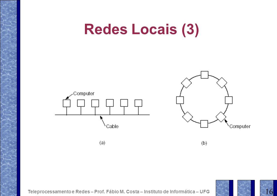 Redes Locais (3) Teleprocessamento e Redes – Prof. Fábio M. Costa – Instituto de Informática – UFG.