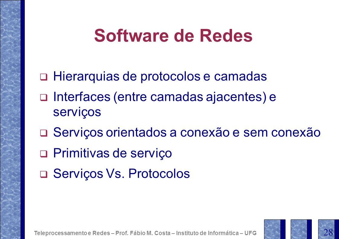 Software de Redes Hierarquias de protocolos e camadas