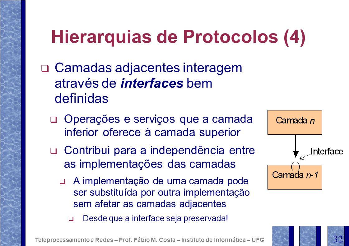 Hierarquias de Protocolos (4)