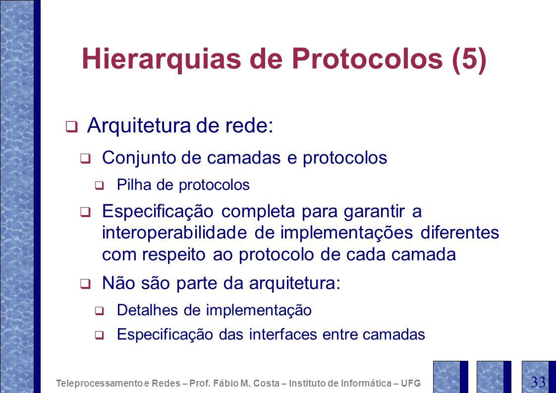 Hierarquias de Protocolos (5)