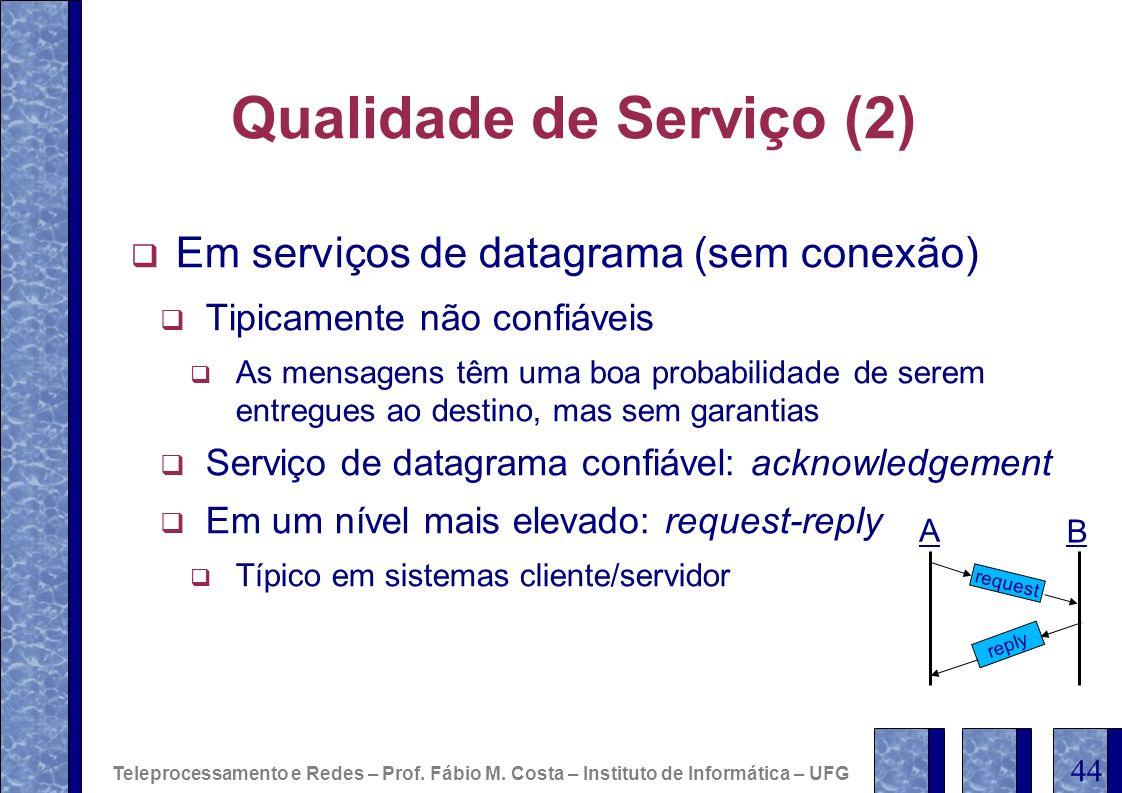 Qualidade de Serviço (2)