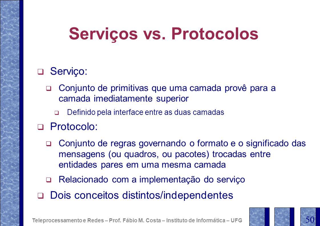 Serviços vs. Protocolos