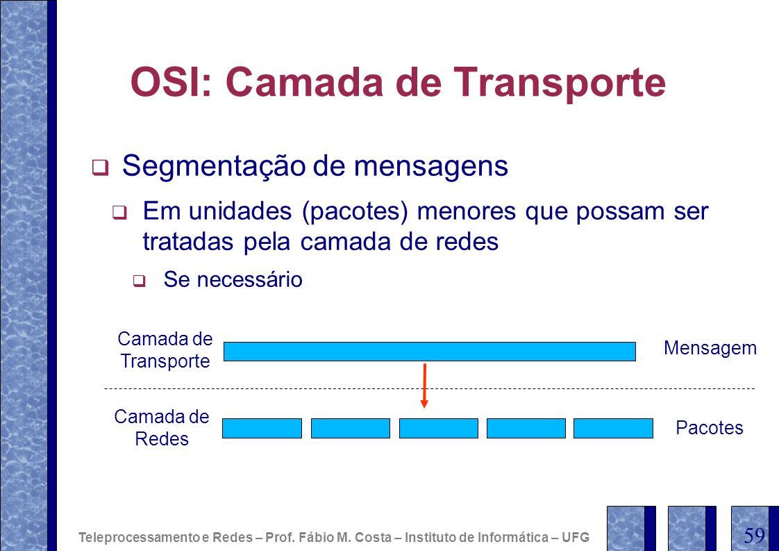 OSI: Camada de Transporte