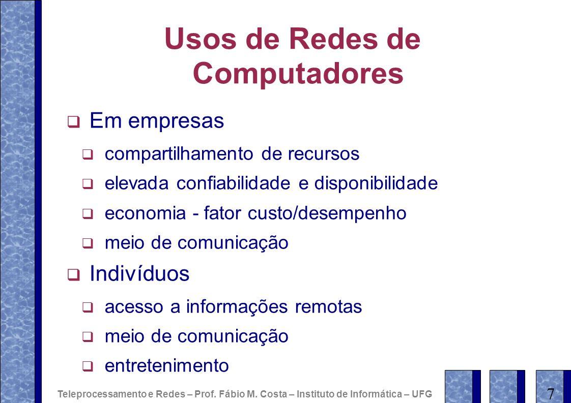 Usos de Redes de Computadores
