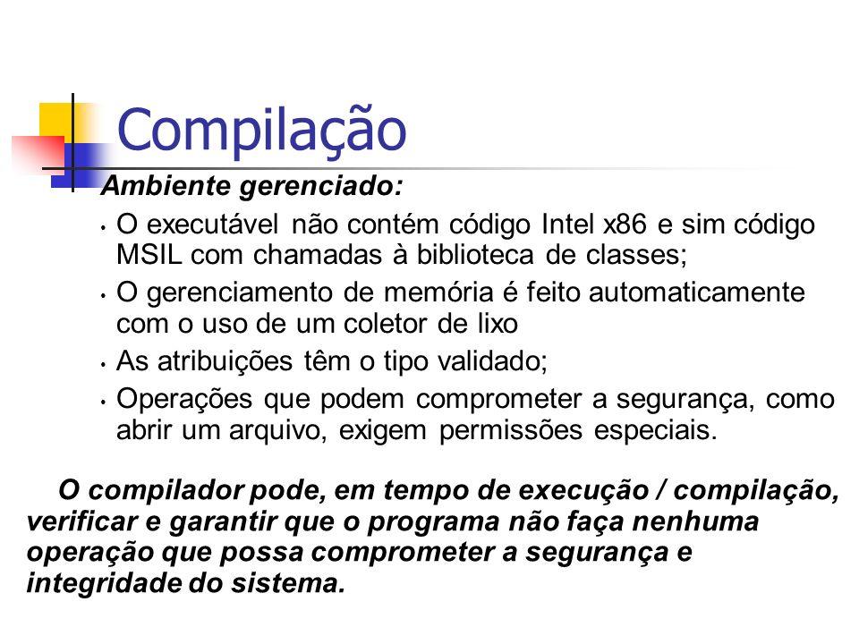 Compilação Ambiente gerenciado: