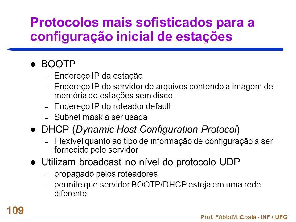 Protocolos mais sofisticados para a configuração inicial de estações
