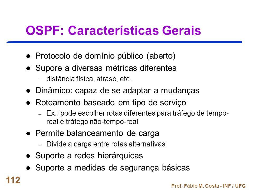OSPF: Características Gerais