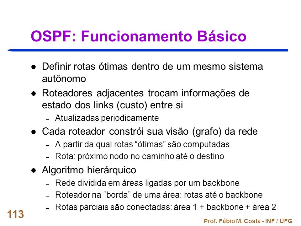 OSPF: Funcionamento Básico