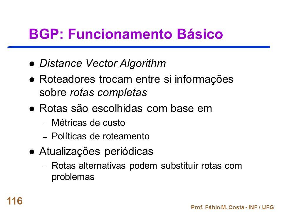 BGP: Funcionamento Básico