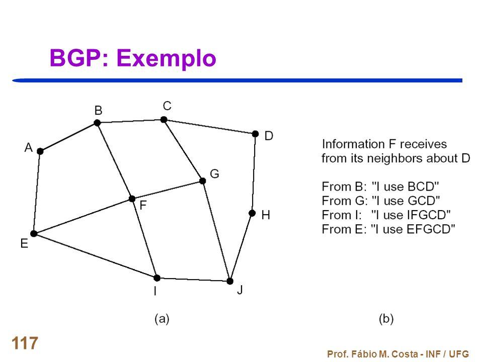 BGP: Exemplo Prof. Fábio M. Costa - INF / UFG