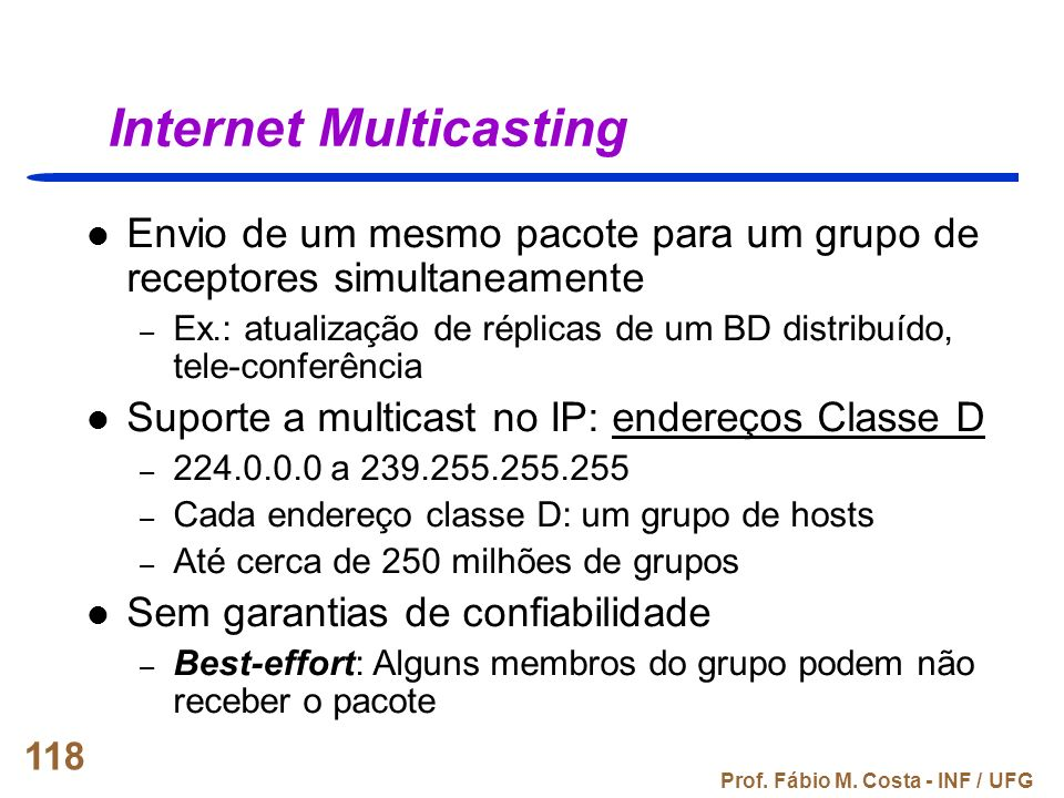Internet Multicasting