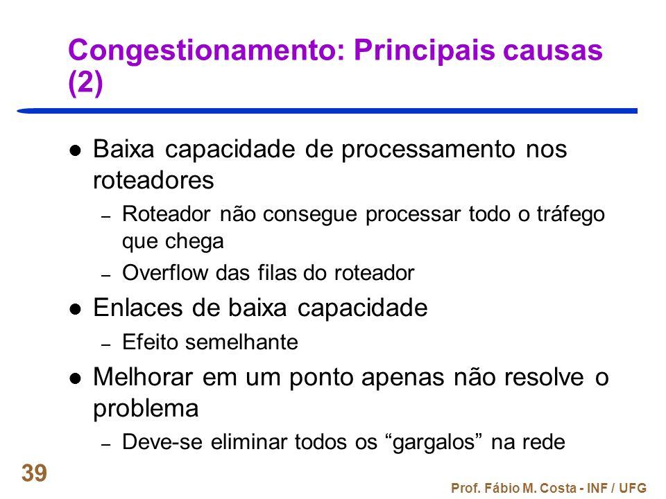 Congestionamento: Principais causas (2)