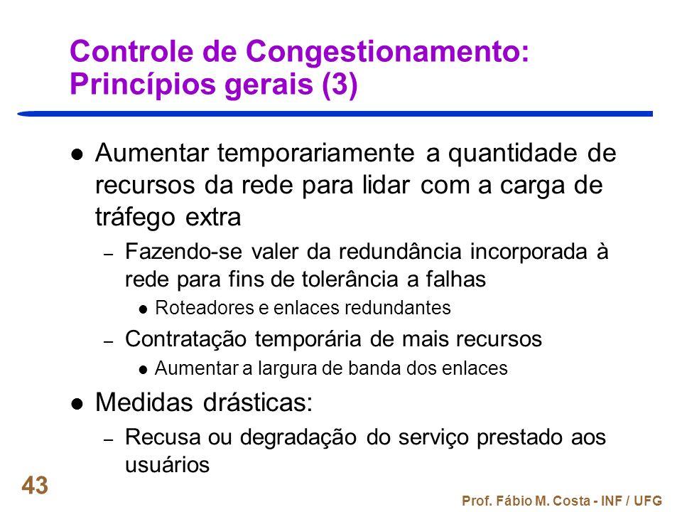 Controle de Congestionamento: Princípios gerais (3)