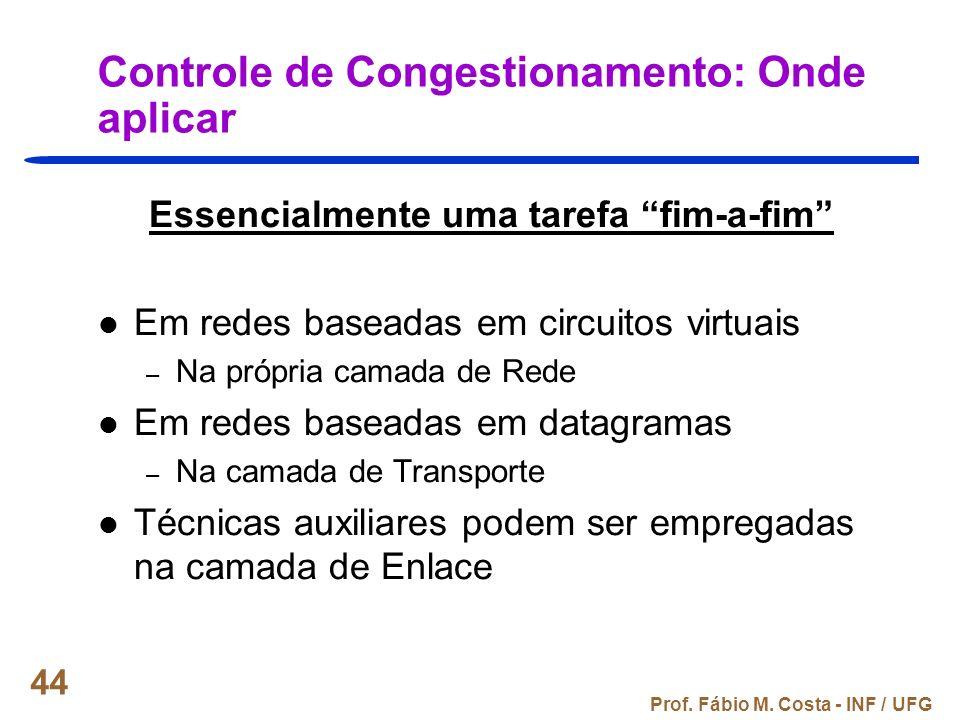 Controle de Congestionamento: Onde aplicar