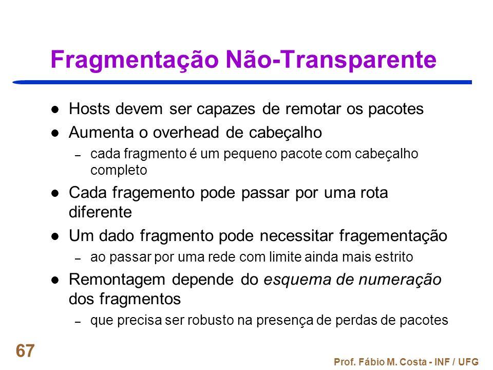 Fragmentação Não-Transparente