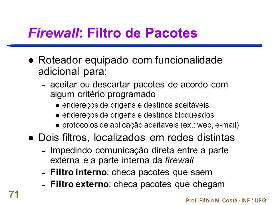 Firewall: Filtro de Pacotes