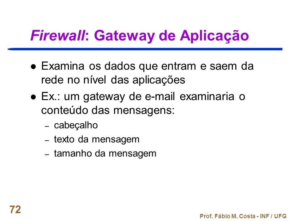 Firewall: Gateway de Aplicação