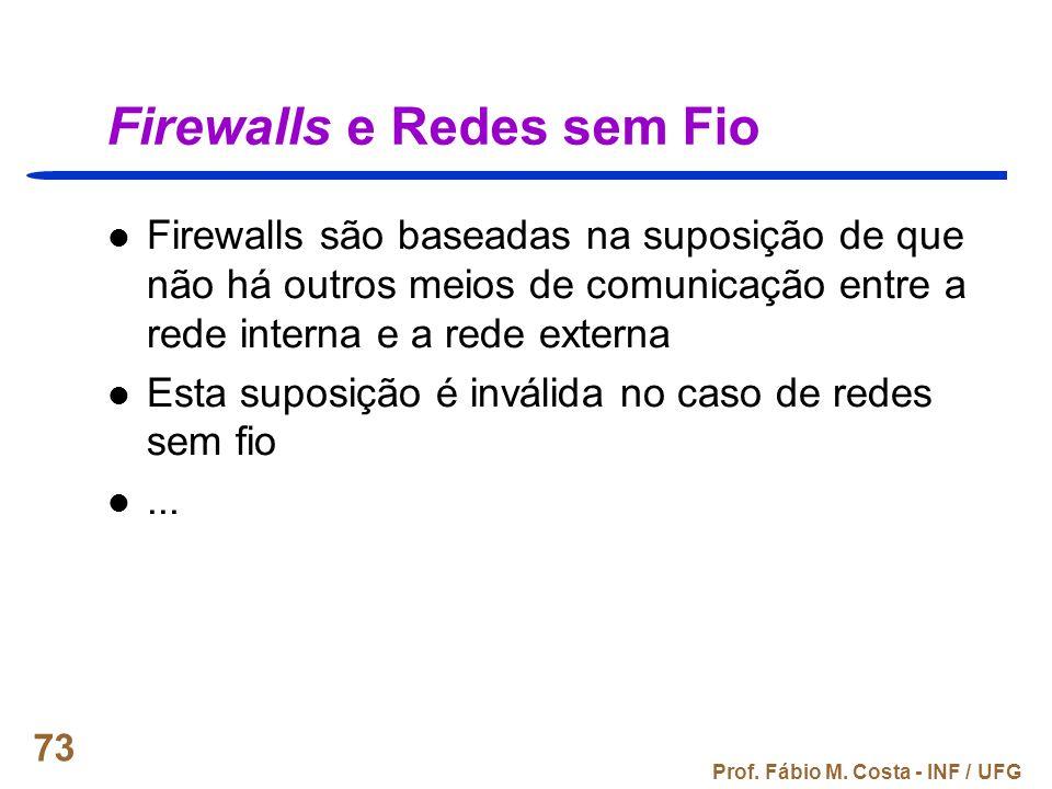 Firewalls e Redes sem Fio