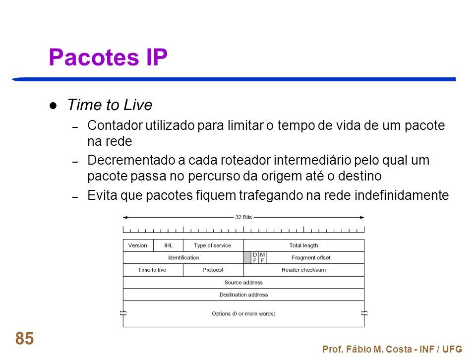 Pacotes IP Time to Live. Contador utilizado para limitar o tempo de vida de um pacote na rede.