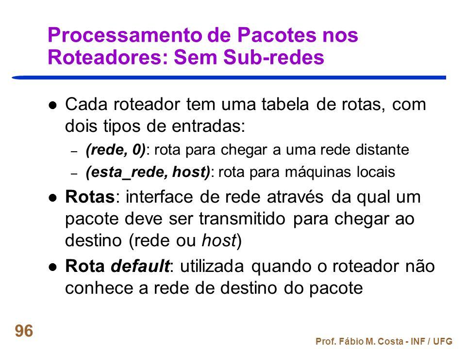 Processamento de Pacotes nos Roteadores: Sem Sub-redes