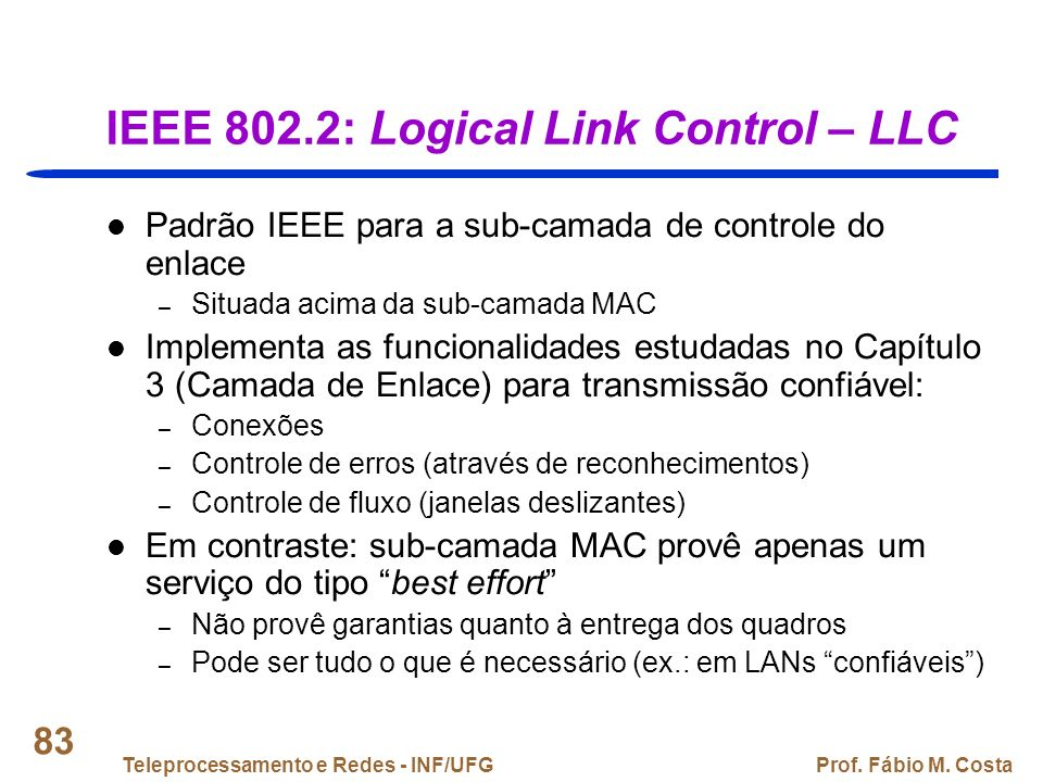 IEEE 802.2: Logical Link Control – LLC
