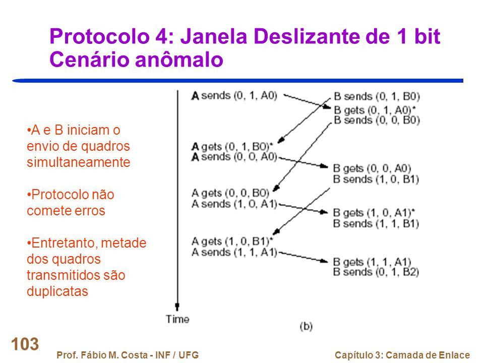 Protocolo 4: Janela Deslizante de 1 bit Cenário anômalo