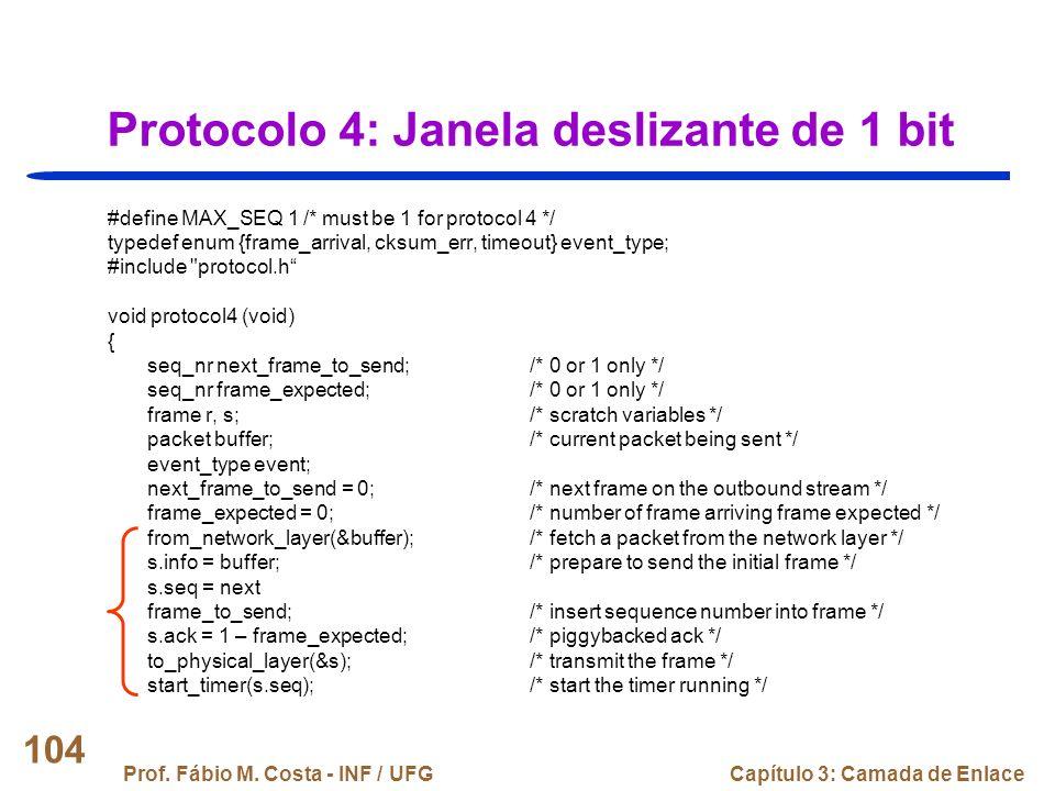 Protocolo 4: Janela deslizante de 1 bit