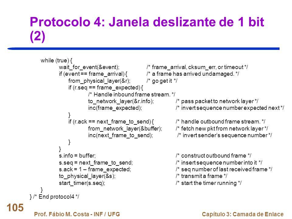 Protocolo 4: Janela deslizante de 1 bit (2)